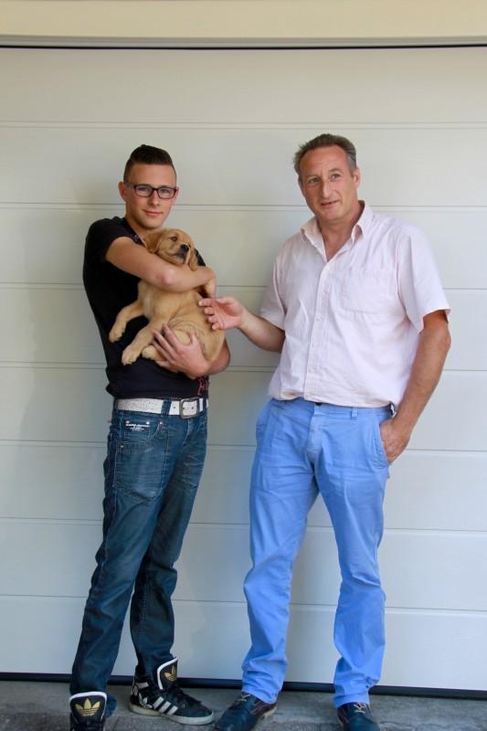 Adrie en Niels met Boaz !